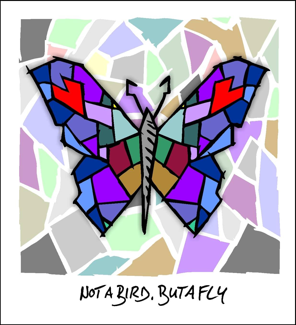 Not a bird, but a fly - Schmetterling von Herman Reichold